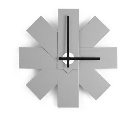 Normann Copenhagen Wall Clock Watch me gray aluminum Ø28,5cm