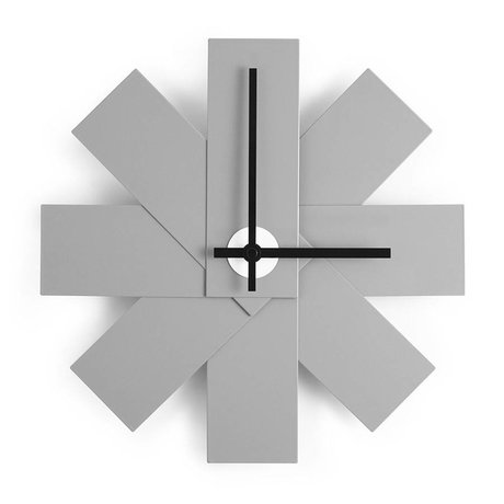 Normann Copenhagen Horloge murale Montre-moi Ø28,5cm aluminium gris