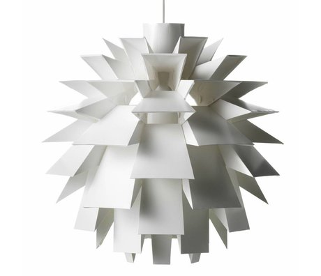 Normann Copenhagen Hængende lampe Norm 69 hvid film-XXL Ø78x78cm