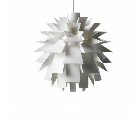 Normann Copenhagen Lámpara colgante Norm 69 blanco película-XL Ø60x60cm