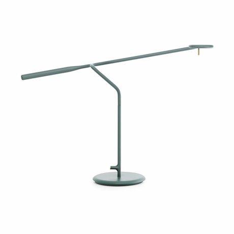 Normann Copenhagen Table light Flow green Metal 58x16x42cm