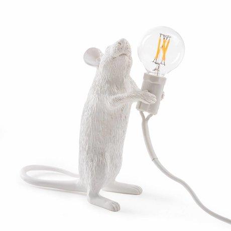 Seletti Tischlampe Mouse weiß Nylon 6,2x8,1x14,5cm