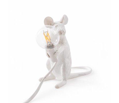 Seletti Table Lamp Mouse white nylon 6,2x15x12cm