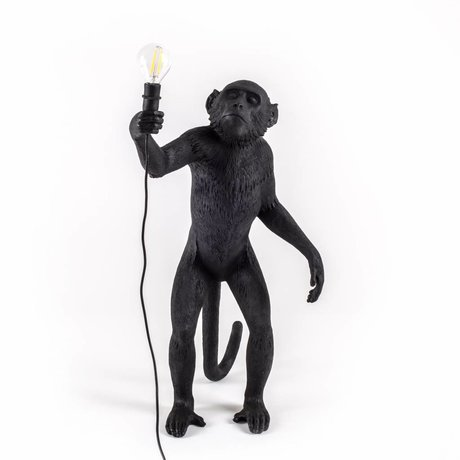 Seletti Tischleuchte Der Affe schwarz Nylon 46x27,5x54cm