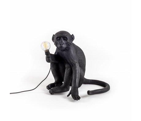 Seletti Table lamp The Monkey black nylon 34x30x42cm