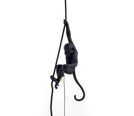 Seletti Pendelleuchte Monkey aus schwarzem Nylon 27x30x80cm