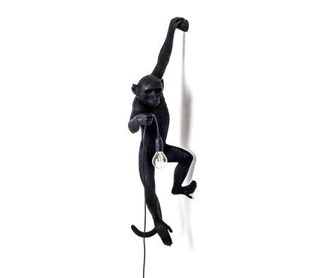 Seletti Wall lamp The Monkey black plastic 37x20,5x76,5cm