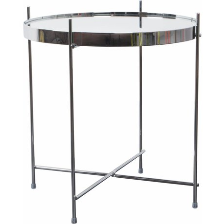 """Zuiver Table """"Amor"""" af metal, sølv, Ø43x45cm"""