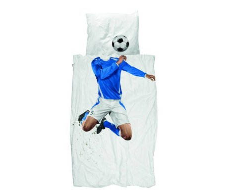 Snurk Linge de football Champ coton bleu 200x200 / 220cm