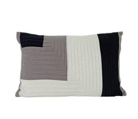 Ferm Living Cushion Angle Knit gray cotton 60x40cm