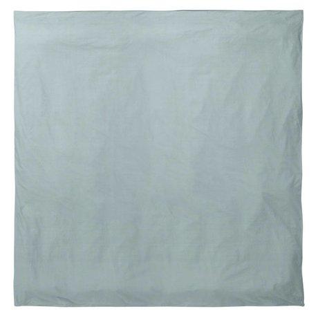 Ferm Living Piumone Hush taubenblau 200x200cm cotone biologico