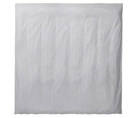 Ferm Living Piumone Hush grigio chiaro 200x200cm cotone biologico