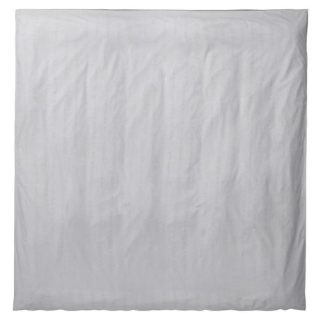 Ferm Living Duvet Silencio luz gris 200x200cm algodón orgánico