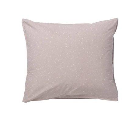 Ferm Living Cuscino Hush Milkyway scuro rosa 60x50cm in cotone biologico
