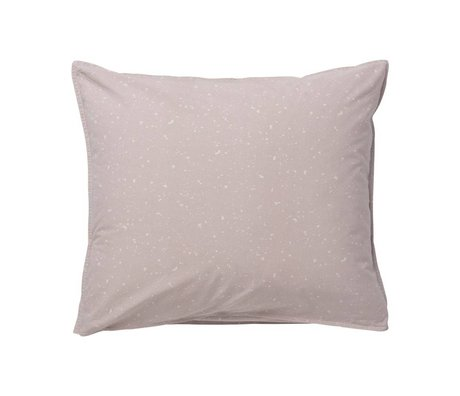 Ferm Living Pude Hush Milkyway mørk pink økologisk bomuld 60x50cm
