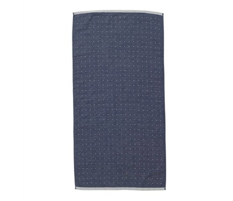 Ferm Living Sento håndklæde 50x100cm blå økologisk bomuld