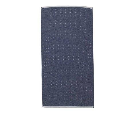 Ferm Living Sento towel blue organic cotton 50x100cm