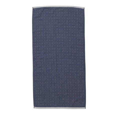 Ferm Living Sento Handtuch blau Bio-Baumwolle 50x100cm