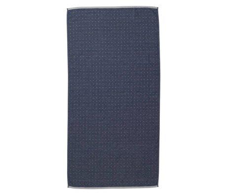 Ferm Living Sento serviette 70x140cm bleu de coton organique