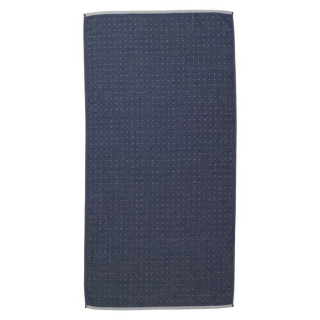 Ferm Living Sento håndklæde 70x140cm blå økologisk bomuld