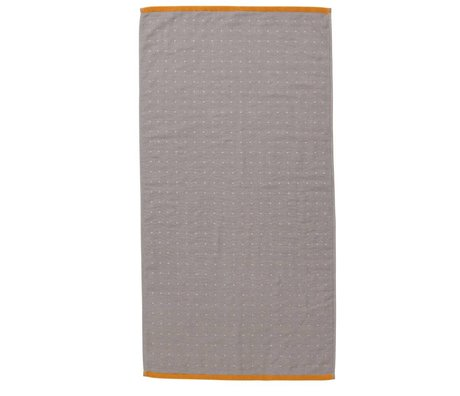 Ferm Living Sento towel gray organic cotton 50x100cm