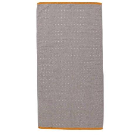 Ferm Living Sento serviette gris 50x100cm coton organique