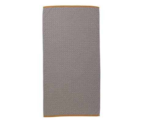 Ferm Living Sento Handtuch grau Bio-Baumwolle 70x140cm