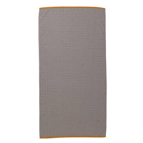 Ferm Living Sento serviette gris 70x140cm coton organique