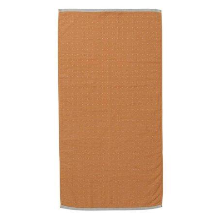 Ferm Living coton organique moutarde sèche-serviettes Sento jaune 50x100cm
