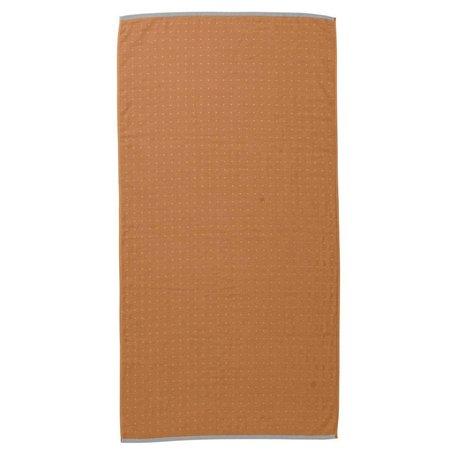 Ferm Living Håndklæde Sento sennepsgul økologisk bomuld 70x140cm
