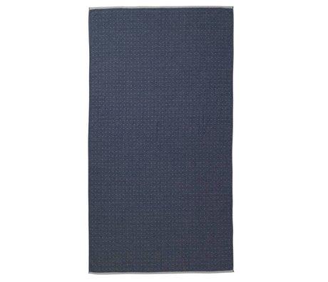 Ferm Living Asciugamano Sento blu 100x180cm cotone organico