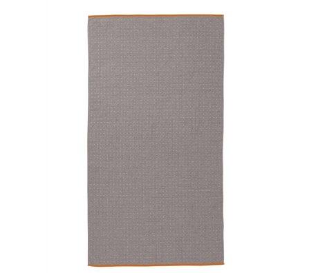 Ferm Living Håndklæde Sento grå økologisk bomuld 100x180cm