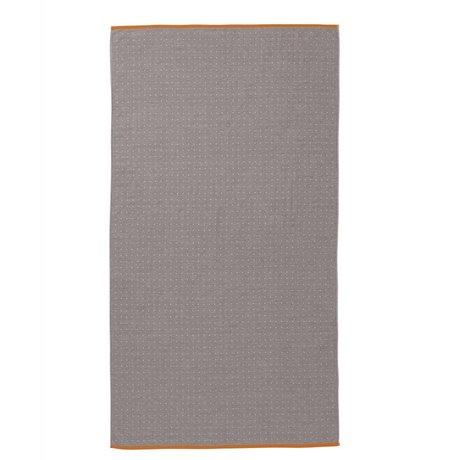 Ferm Living Handtuch Sento grau Bio-Baumwolle 100x180cm