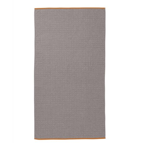 Ferm Living Serviette Sento 100x180cm coton organique gris