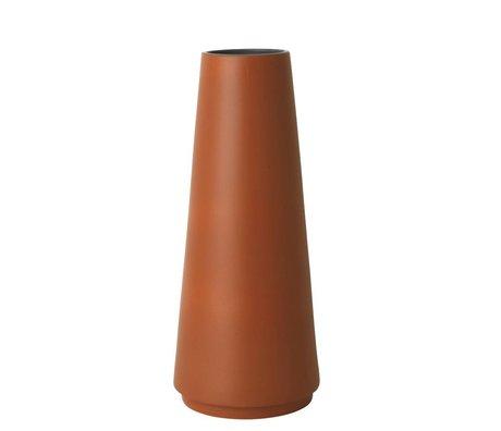 Ferm Living Floor vase Dual rust Stoneware L Ø20x48cm