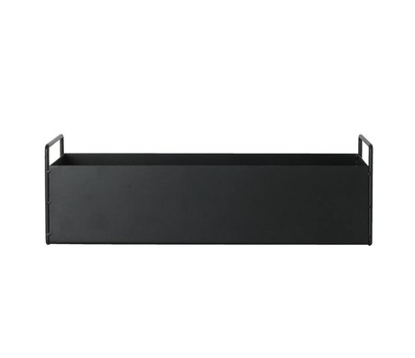 Ferm Living Box plant black metal S 45x14,5x17cm