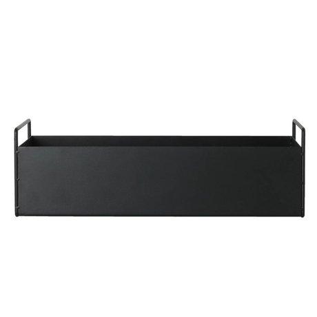 Ferm Living usine de boîte en métal noir S 45x14,5x17cm