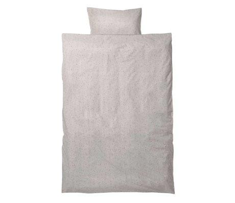 Ferm Living Ropa de cama de silencio milkyway Junior Set crema algodón orgánico 110x140cm incluido funda de almohada 46x40cm