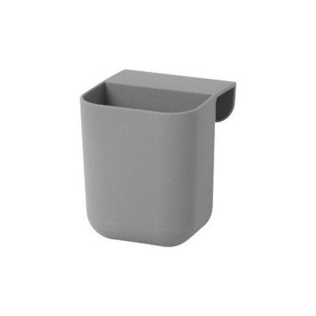 Ferm Living Poco Arquitecto bolsas grises siliconas 8x8,5x10cm