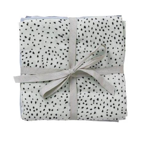 Ferm Living Hydrophilic Muslin Dot Set of 3 dot mint organic cotton 70x70cm