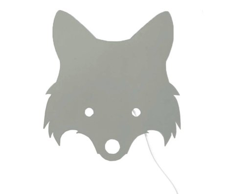 Ferm Living Lamp Fox Dusty green plywood 30x22,5cm