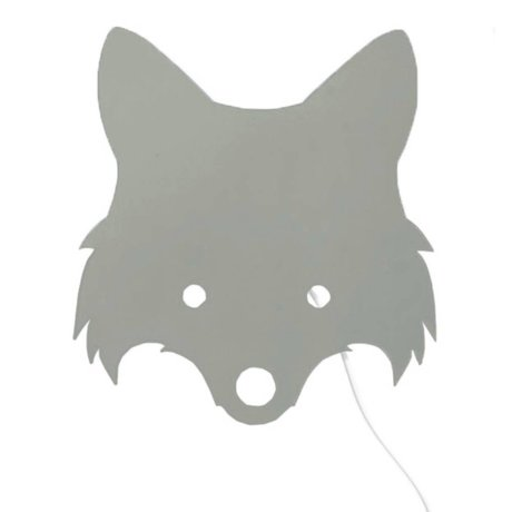 Ferm Living Lámpara Fox Dusty grün contrachapado 30x22,5cm