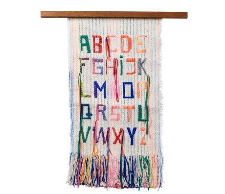 Ferm Living Wanddekoration ABC Multicolor Textilien Holz 33x61cm