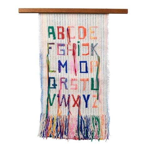 Ferm Living Wall Decoration ABC Multicolor Textiles Wood 33x61cm