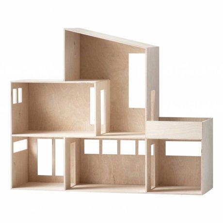 Ferm Living Miniature Funky Haus braun Sperrholz 66,8x55,5x20cm