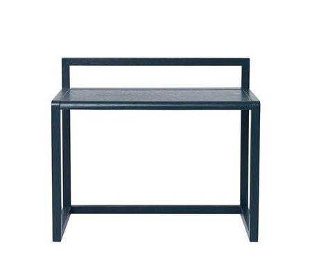 Ferm Living Schreibtisch Little Architect dunkelblau Eschenfurnier 70x45x60cm