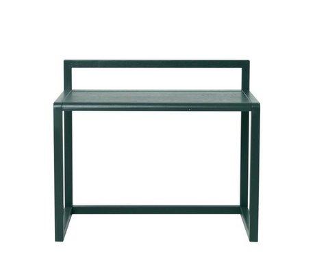 Ferm Living Schreibtisch Little Architect dunkelgrün Eschenfurnier 70x45x60cm