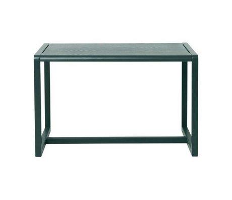 Ferm Living Lidt tabeller Arkitekt mørkegrøn aske finér 76x55x43cm