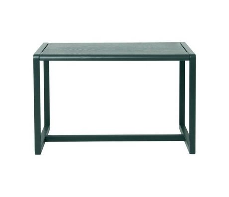 Ferm Living Petites tables Architecte placage frêne vert foncé 76x55x43cm