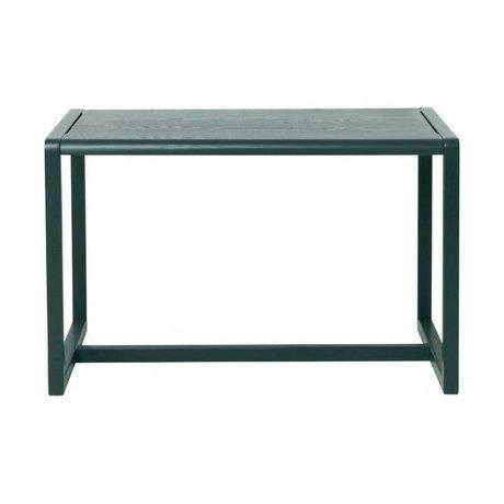 Ferm Living Mesitas Arquitecto de ceniza de color verde oscuro 76x55x43cm chapa